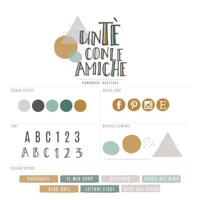 Logo e blog design: Un tè con le amiche