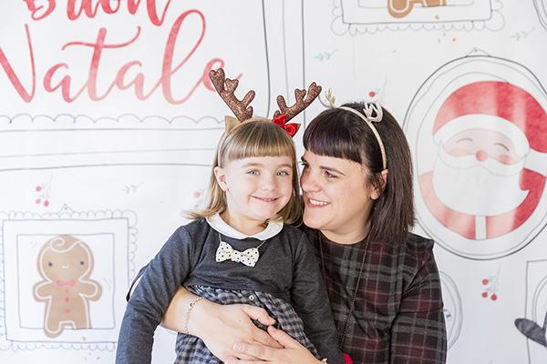 Grafica per le foto di Natale con Ilaria Corticelli
