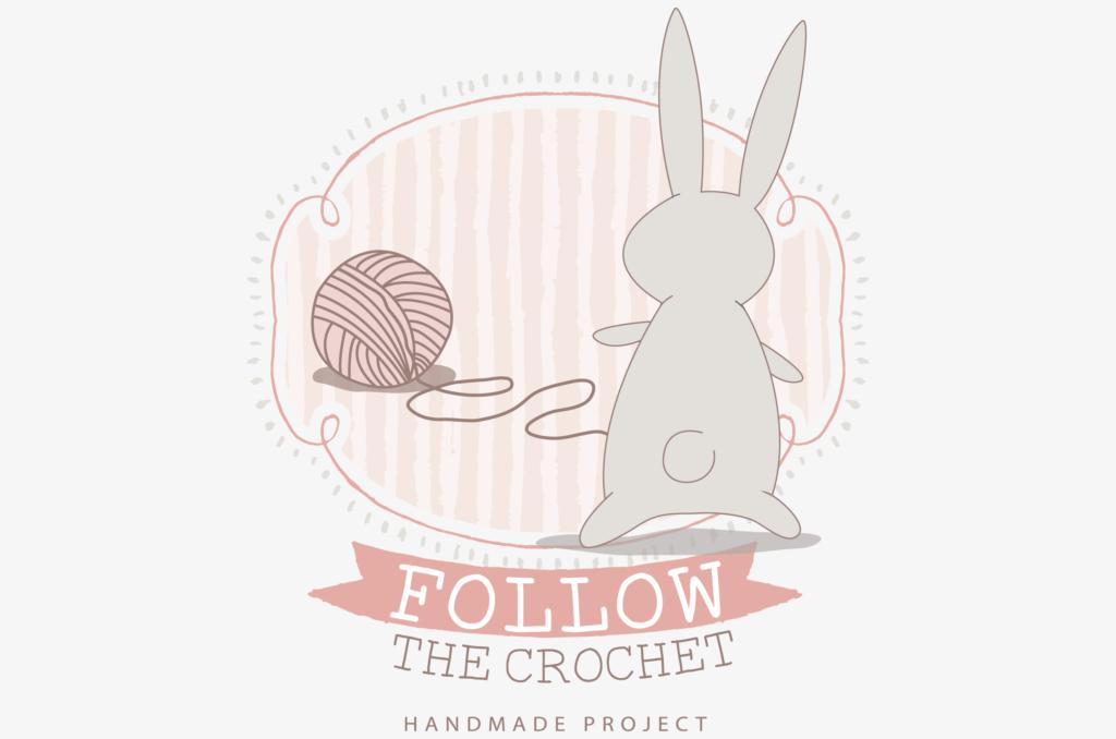 Logo design: Follow the crochet
