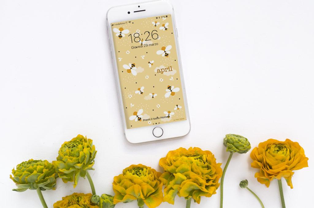 Sfondo smartphone gratuito | aprile