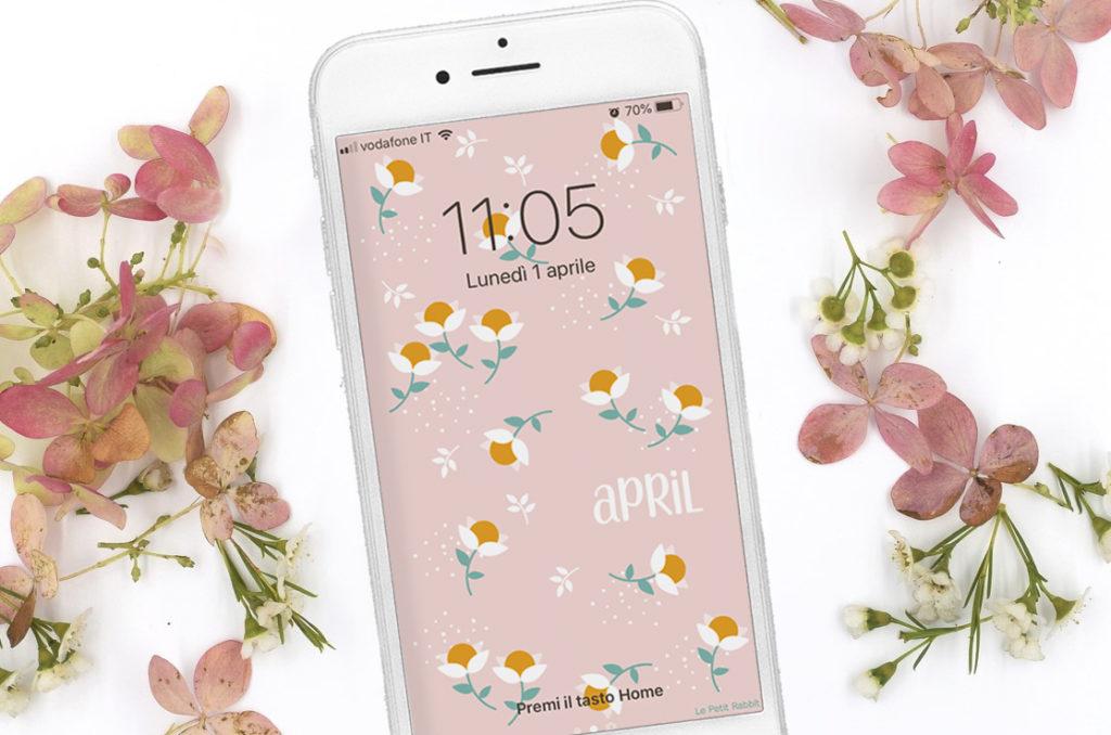 Sfondo gratuito smartphone | aprile